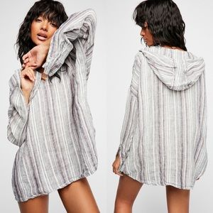 Free People x CP Shades 100% linen striped tunic!